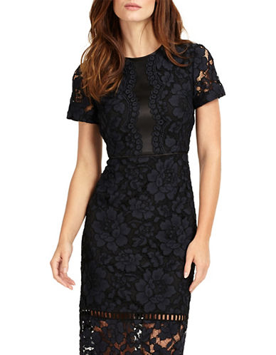 Phase Eight Darena Lace Cocktail Dress-NAVY-UK 16/US 12
