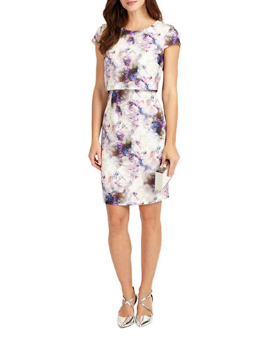 Phase Eight Effie Print A-line Dress-MULTI-UK 14/US 10
