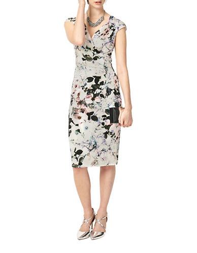 Phase Eight Carla Print Sheath Dress-MULTI-UK 12/US 8
