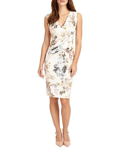 Phase Eight Marthe Floral Sheath Dress-MULTI-UK 18/US 14