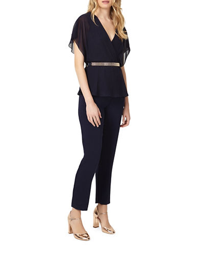 Phase Eight Blossom Belted Jumpsuit-BLUE-UK 14/US 10