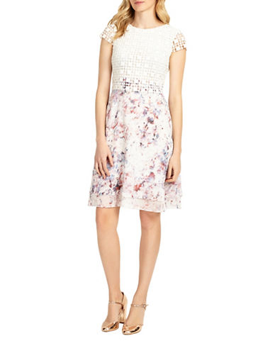 Phase Eight Florence Lace A-Line Dress-MULTI-UK 12/US 8