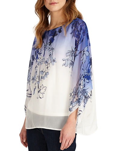 Phase Eight Semi-Sheer Printed Blouse-MUTLI-2