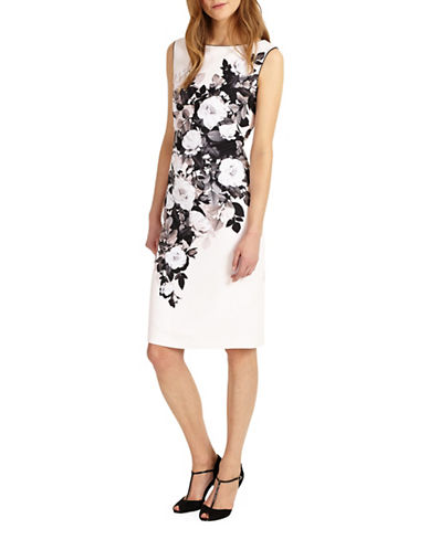Phase Eight Eleanor Floral Sheath Dress-BLACK-UK 10/US 6