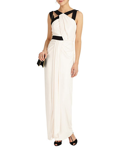 Phase Eight Felicity Drape Full Length Dress-BLACK-UK 14/US 10