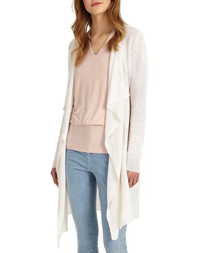 Phase Eight Luella Linen Cardigan-WHITE-UK 18/US 14