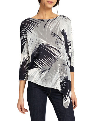 Phase Eight Fern-Printed Blouse-WHITE/ GREY-2