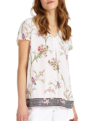 Phase Eight Hummingbird-Printed Blouse-MULTI-UK 18/US 14