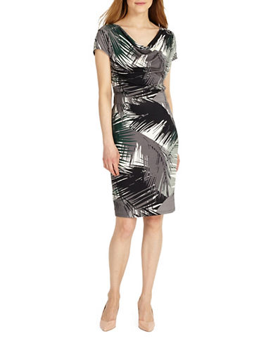 Phase Eight St Louis Fern Print Jersey Dress-MULTI-UK 16/US 12