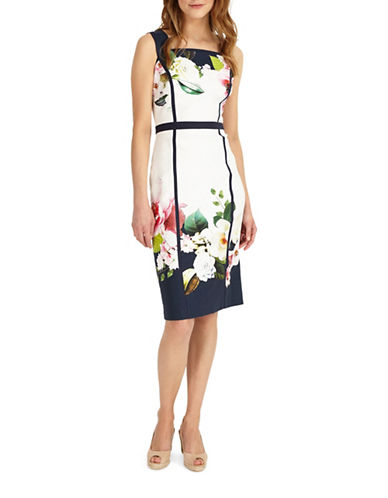 Phase Eight Alma Printed Sheath Dress-MULTI-UK 10/US 6