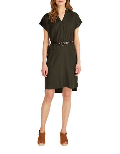 Phase Eight Yasmina Belted Dress-GREEN-UK 14/US 10