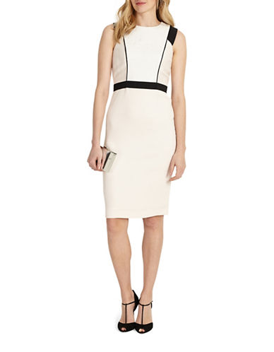 Phase Eight Daisy Sheath Dress-CREAM-UK 16/US 12