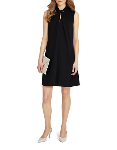 Phase Eight Nadine Knot Shift Dress-BLACK-UK 18/US 14