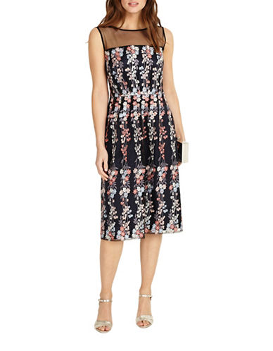 Phase Eight Gabriella Floral Cocktail Dress-NAVY MULTI-UK 10/US 6