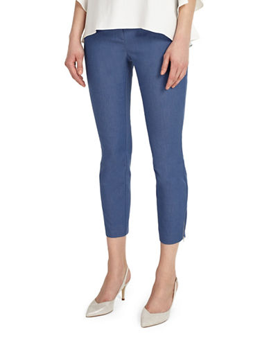 Phase Eight Senia Crop Trousers-BLUE-UK 16/US 12