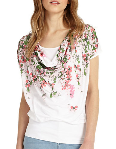 Phase Eight Hydrangea Printed Tee-MULTI-UK 8/US 4