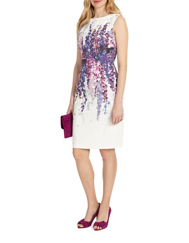 Phase Eight Jessica Floral Sheath Dress-IVORY MULTI-UK 12/US 8
