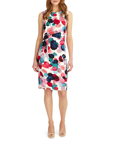 Phase Eight Artists Palette Spot Sheath Dress-MUTLI-UK 12/US 8