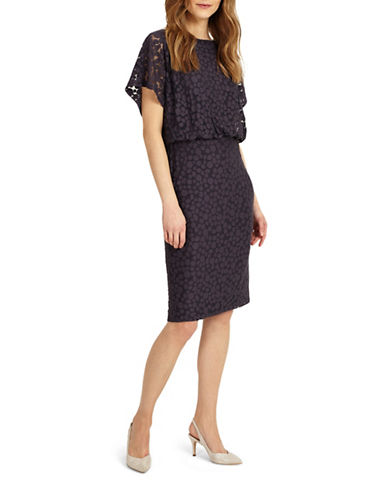 Phase Eight Spot Blouson Dress-GREY-UK 14/US 10