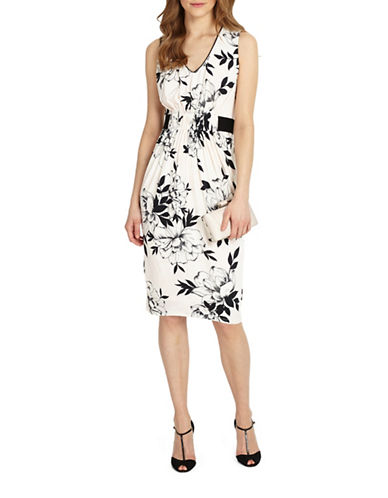 Phase Eight Floral-Printed Jersey Dress-MULTI-UK 18/US 14