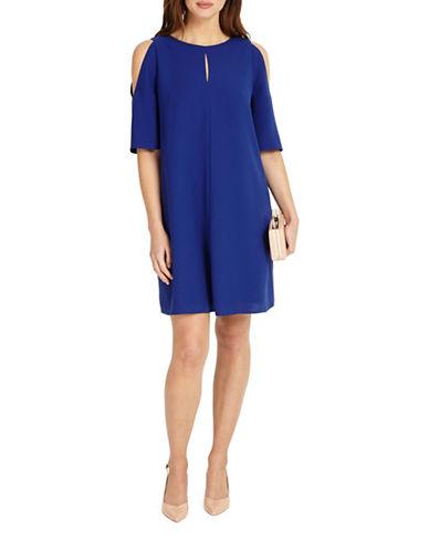 Phase Eight Jilly Cold Shoulder Dress-BLUE-UK 10/US 6