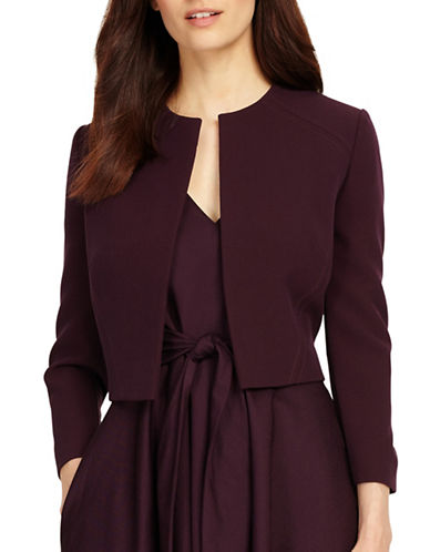 Phase Eight Annie Cropped Jacket-PURPLE-UK 10/US 6