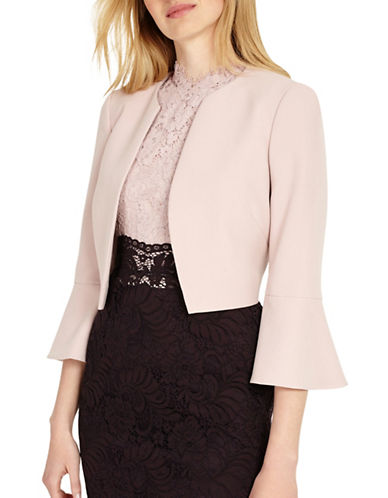 Phase Eight Hanne Bell Sleeve Jacket-PINK-UK 12/US 8