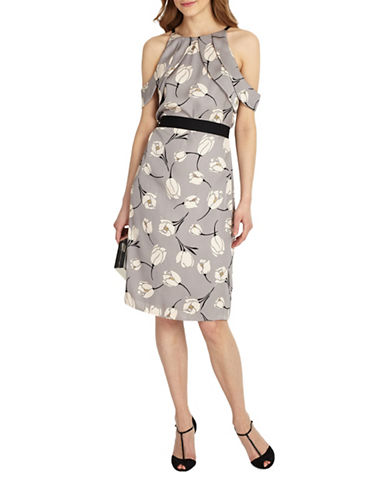 Phase Eight Tulip Cold-Shoulder Dress-MUTLI-UK 18/US 14