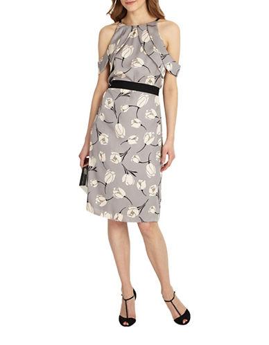 Phase Eight Tulip Cold-Shoulder Dress-MUTLI-UK 16/US 12
