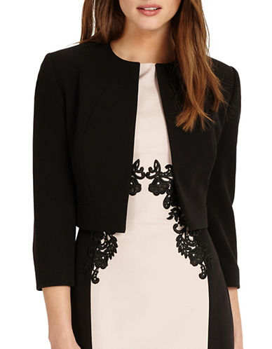 Phase Eight Renee Cropped Jacket-BLACK-UK 18/US 14