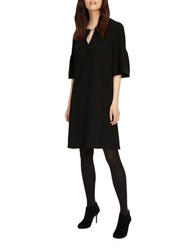 Phase Eight Cara Chain Neck Swing Dress-BLACK-UK 10/US 6