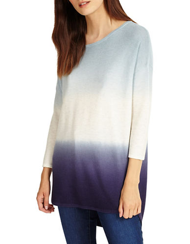 Phase Eight Lynda Dip Dye Knitted Jumper-BLUE-2