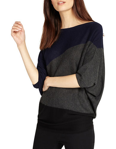 Phase Eight Becca Diagonal Block Jumper-BLUE-0