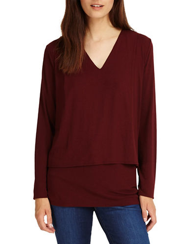Phase Eight Dee Double Layer Top-BRICK-UK 14/US 10
