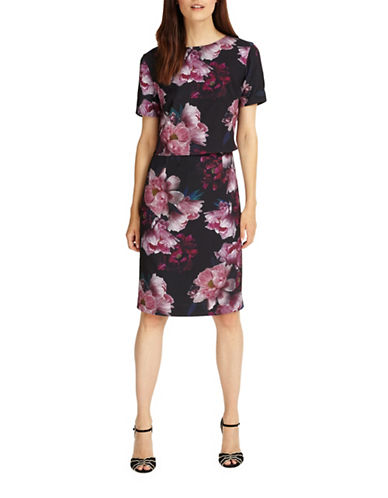 Phase Eight Kaylor Floral Shift Dress-MULTI-UK 18/US 14