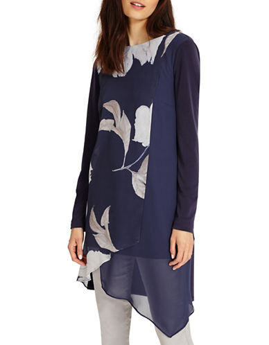Phase Eight Vinny Floral Tunic-BLUE-UK 10/US 6