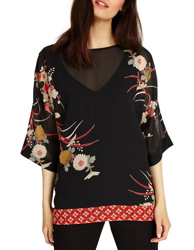 Phase Eight Oriental Floral Print Blouse-MULTI-3