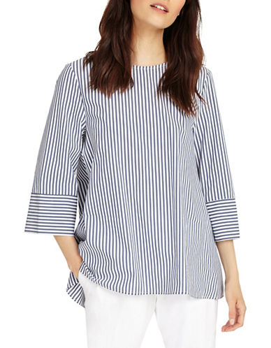 Phase Eight Penelope Stripe Blouse-BLUE-UK 8/US 4