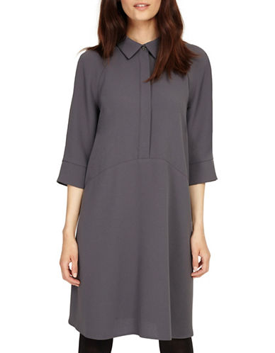 Phase Eight Bella Swing Swing Dress-GREY-UK 10/US 6
