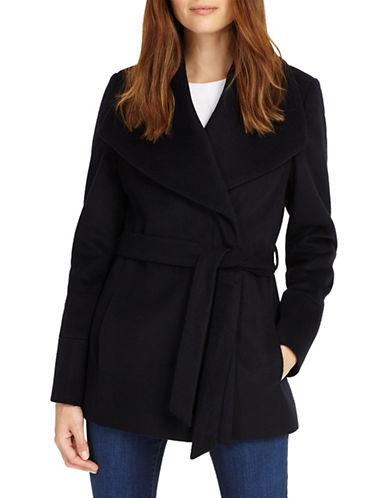 Phase Eight Nicci Belted Wool-Blend Coat-BLUE-UK 14/US 10