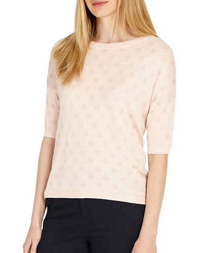 Phase Eight Sedona Spot Jacquard Knitted Jumper-PINK-3