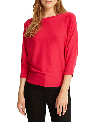 Phase Eight Cristine Batwing-Sleeve Top-RED-0