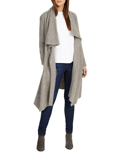 Phase Eight Bellona Waterfall Coat-GREY-UK 12/US 8