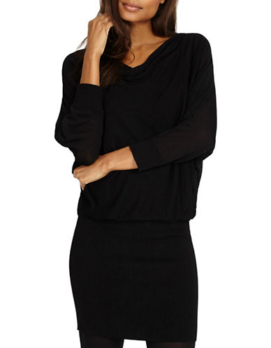 Phase Eight Becca Cowl Neck Blouson Dress-BLACK-UK 8/US 4
