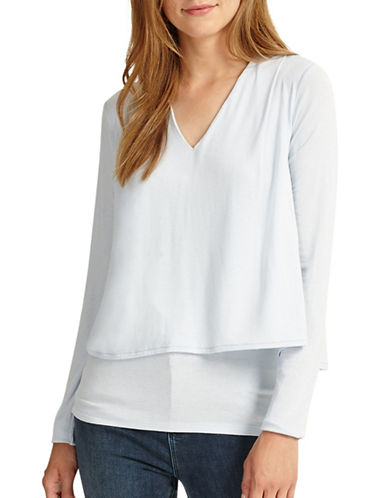 Phase Eight Dee Double Layer Top-PALE BLUE-UK 8/US 4