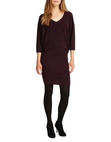 Phase Eight Carmen V-Neck Blouson Dress-RED-UK 16/US 12