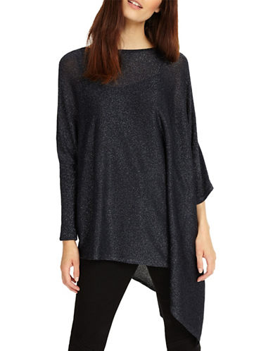 Phase Eight Nieve Shimmer Knit Top-NAVY-2