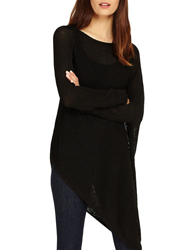 Phase Eight Drina Asymmetric Knit Sweater-BLACK-UK 14/US 10