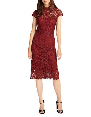 Phase Eight Becky Lace Sheath Dress-RED-UK 10/US 6