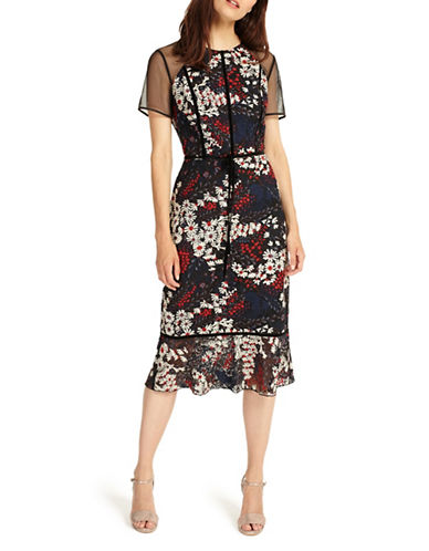 Phase Eight Becky Lace Sheath Dress-MULTI-UK 8/US 4